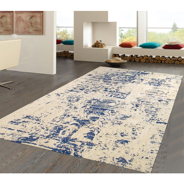 Modern Hand Tufted Microfiber Rug - 4' x 6' - Image 4 of 5