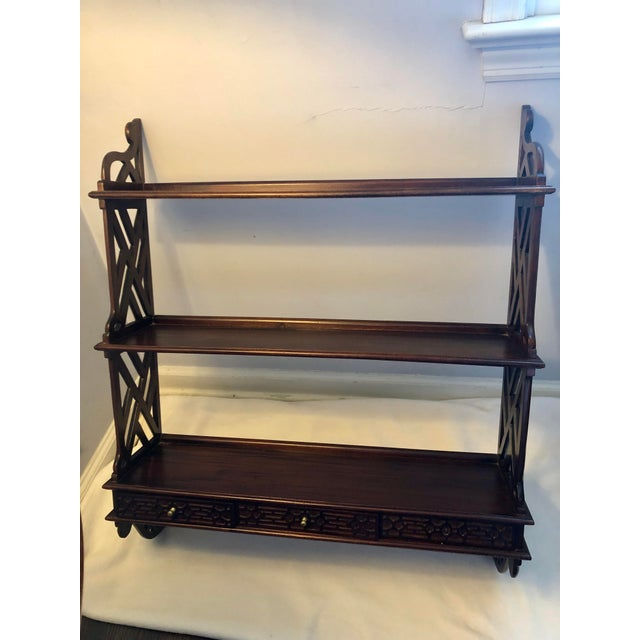 Early 20th Century 20th Century Chippendale Mahogany Shelf For Sale - Image 5 of 5