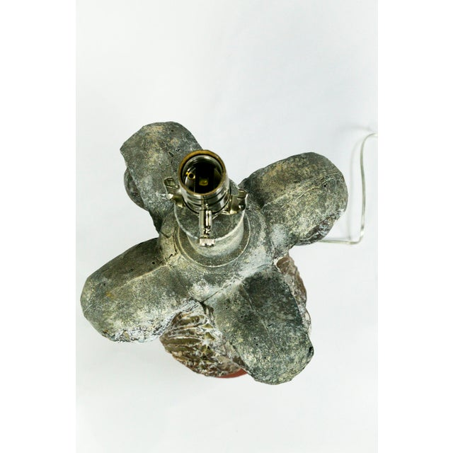 19th Century Balustrade Architectural Element Lamp With Unique Patina For Sale - Image 9 of 10