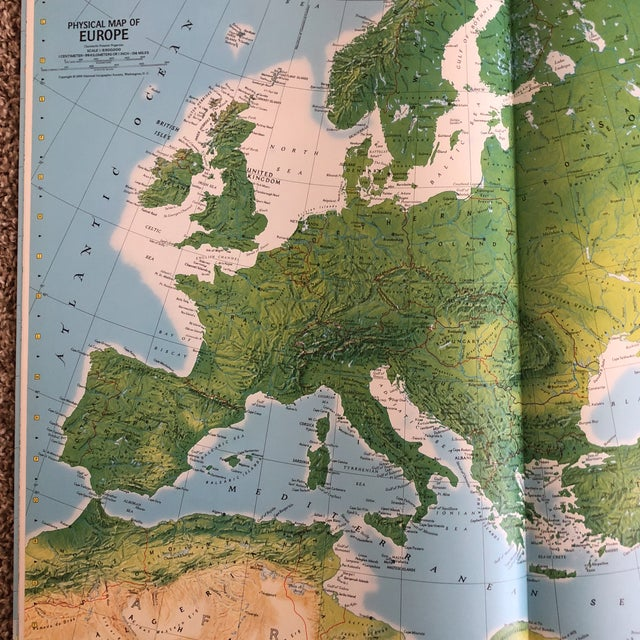1950s Vintage Atlas of the World Books - A Pair For Sale - Image 5 of 8