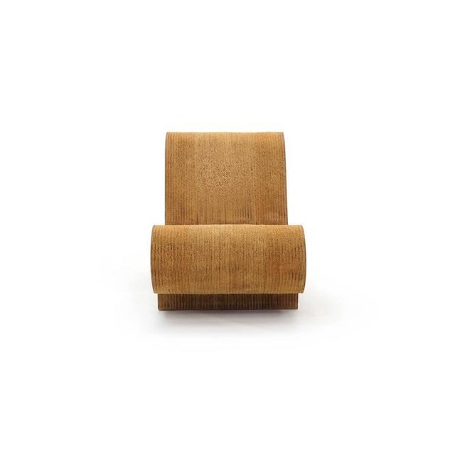 Rare Original Frank Gehry, Easy Edges, Cardboard Contour Chair For Sale In Kansas City - Image 6 of 10