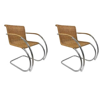 Pair of Ludwig Mies Van Der Rohe Mr20 Chairs For Sale