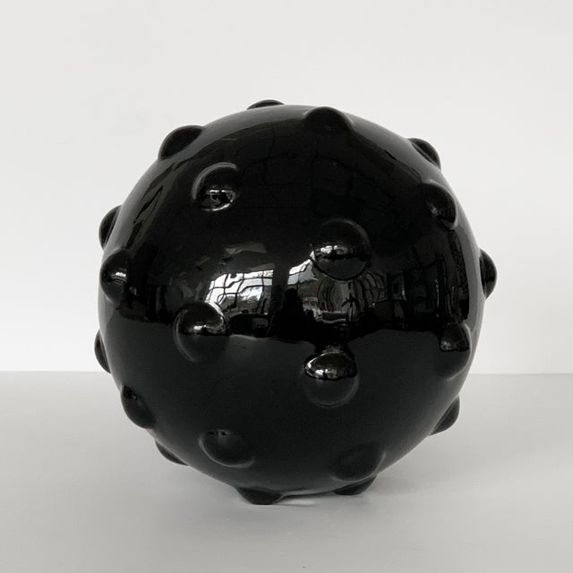 Monumental Obsidian Mine Sphere Sculpture For Sale - Image 4 of 7