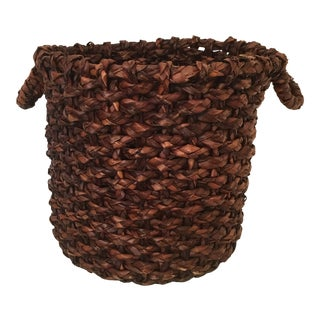 Large Vintage Basket For Sale