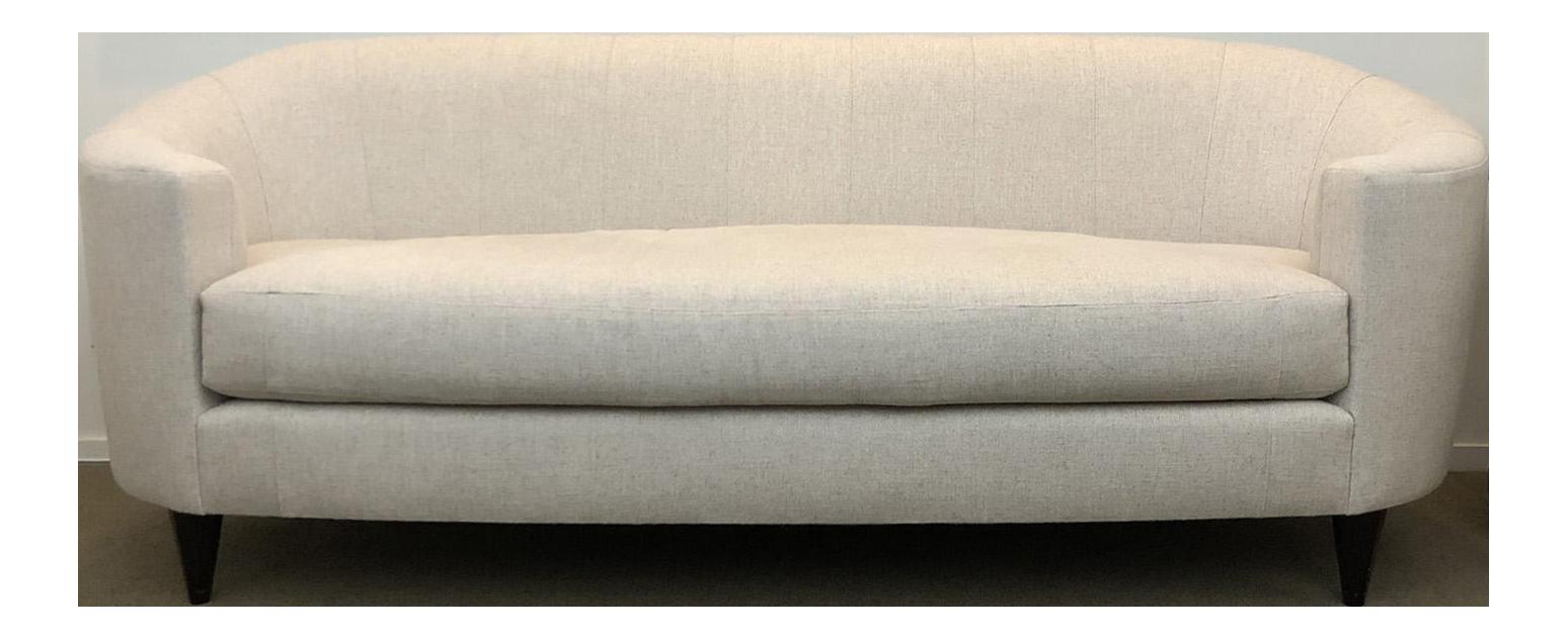 Attirant Thomas Pheasant For Baker Oval Sofa