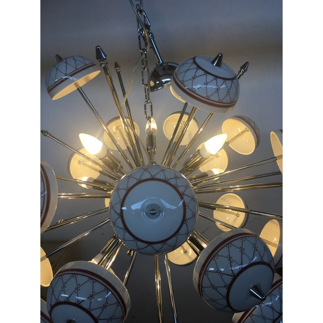 Early 21st Century Italian Hand Made Painted Ceramic Sputnik Chandelier For Sale - Image 5 of 10