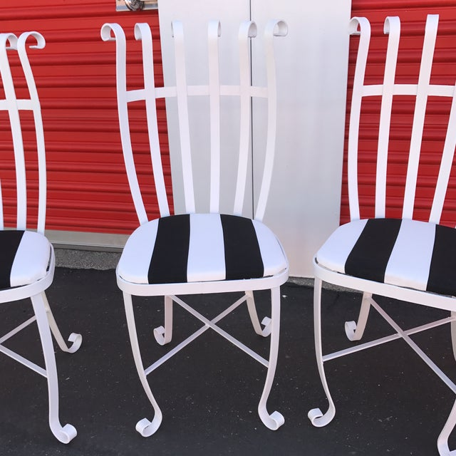 Vintage Metal Outdoor Chairs - Set of 4 - Image 8 of 11