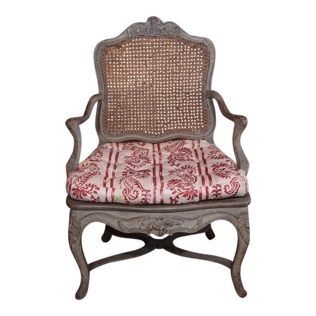 18th Century Painted Regence Chair For Sale