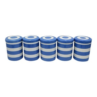 English Cornishware Canisters - Set of 5