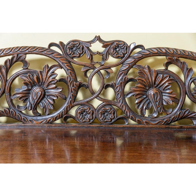 Brown Anglo-Indian Mahogany Server For Sale - Image 8 of 10