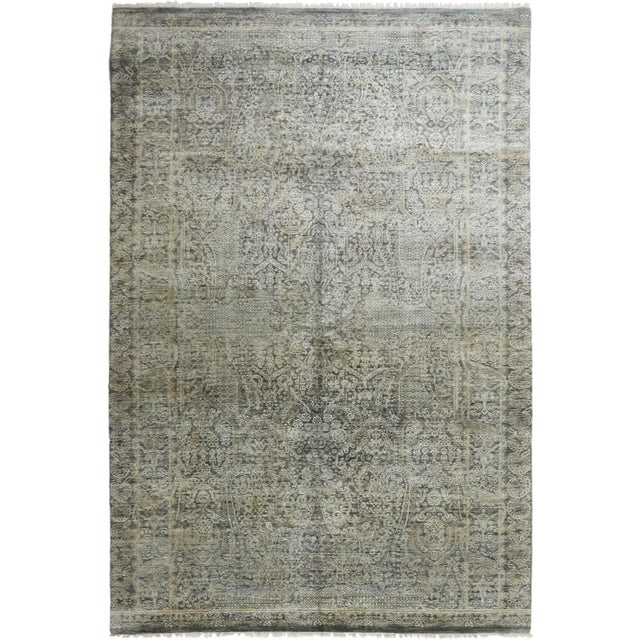 """Contemporary Hand-Knotted Area Rug 6' 0"""" x 8' 0"""" For Sale - Image 4 of 4"""