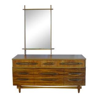 Ward Furniture Mfg Co Mid Century Modern 9 Drawer Dresser