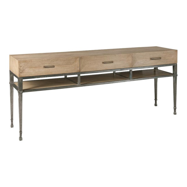 Soho White Oak Media Console Table For Sale