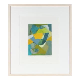 """The Verdant Path"" Framed Geometric Abstract in Ink & Gouache, 2014"