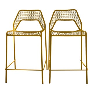 Blu Dot Hot Mesh Counter Stools - a Pair For Sale