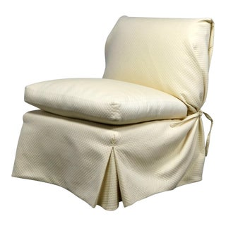Angelo Donghia Slipcovered Slipper Chair