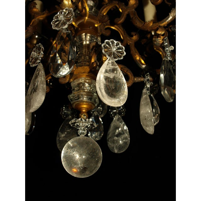 Bronze Antique Chandelier. Elegant Louis XV Chandelier For Sale - Image 7 of 7