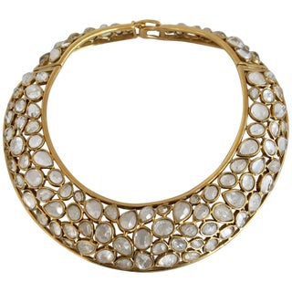Goossens Paris Rock Crystal Statement Torque Necklace For Sale