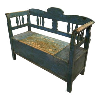 Antique Swedish Bench, 19th Century For Sale