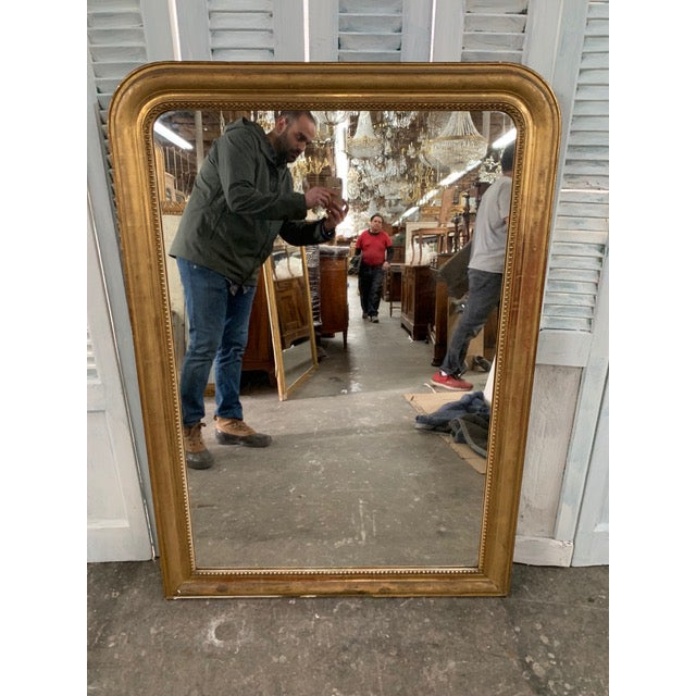 French 19th Century Grand Louis Philippe Mirror For Sale - Image 3 of 10