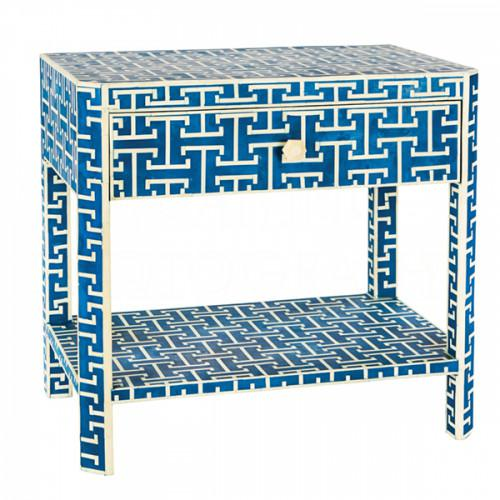 Hermes Inlaid Bone Side Table For Sale In Houston - Image 6 of 6