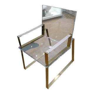 Century Lucite & Brass Halo Chair For Sale