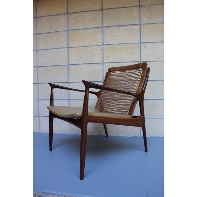 Kofod Larsen Cane Back Lounge Chair For Sale - Image 6 of 11