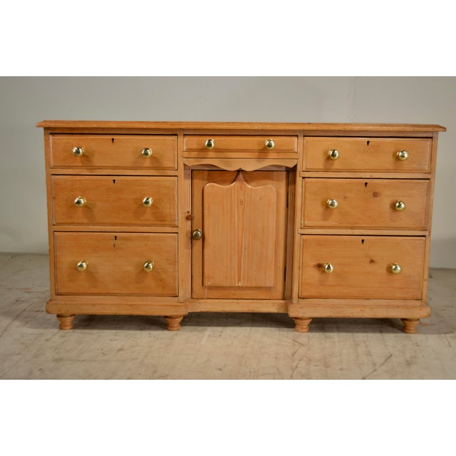 Tan 19th Century English Pine Dresser Base For Sale - Image 8 of 8
