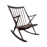 Image of Frank Reenskaug Bramin Danish Modern Teak Rocking Chair For Sale