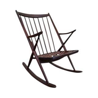 Frank Reenskaug Bramin Danish Modern Teak Rocking Chair For Sale