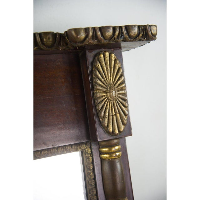 Traditional Antique Regency Mahogany and Giltwood Mantel Mirror For Sale - Image 3 of 8