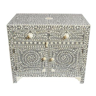Grey Inlay Side Cabinet For Sale