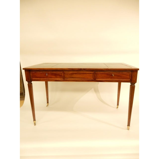 19th C. Louis XVI Style Desk/Leather Top For Sale In New Orleans - Image 6 of 6