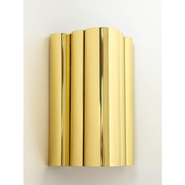 Modern 1970s Jere Style Modern Brass Sconces - a Pair For Sale - Image 3 of 5