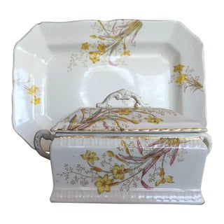 Bridgwood & Son Porcelaine Opaque China - 3 Piece Set For Sale