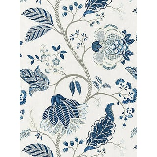 Sample, Scalamandre Palampore Embroidery, Porcelain For Sale