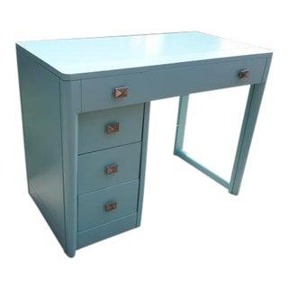 Sky Blue Wooden Expandable Desk