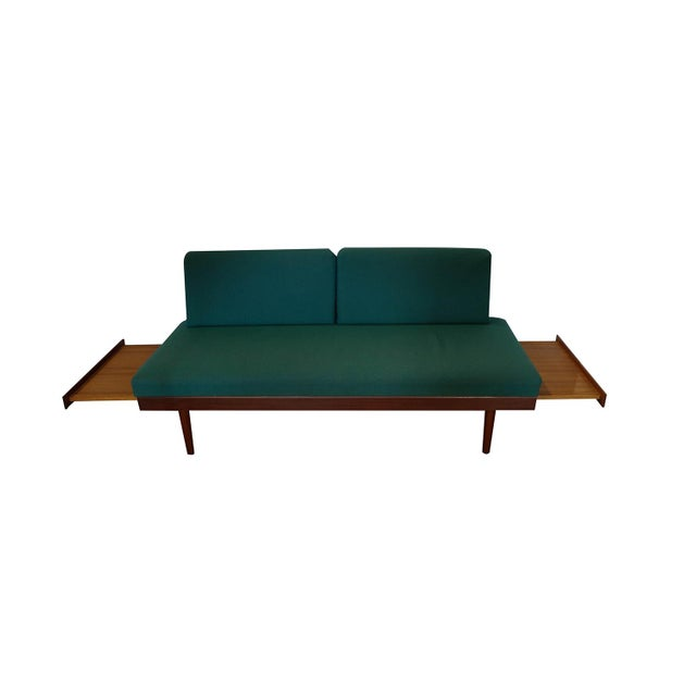 A stunning, comfortable combination, mid-century modern sofa, daybed made in Norway designed by Edvard Kindt for Gustav...