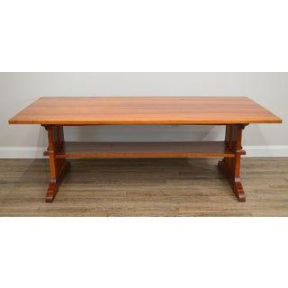 Arts & Crafts Style Custom Quality Cherry Trestle Dining Table Preview