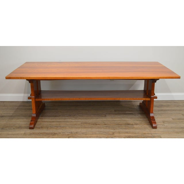 High Quality Solid Cherrywood Large Trestle Dining Table (Unsigned Maker)