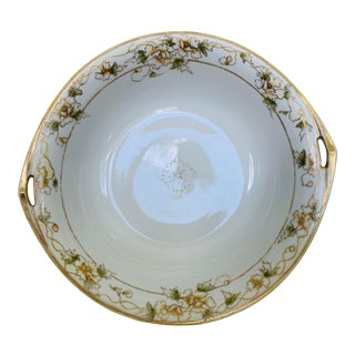 Early 20th Century Hand Painted Nippon Serving Bowl For Sale
