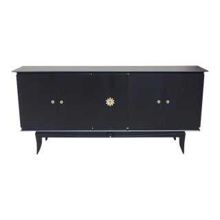 Beautiful Vintage French Art Deco Ebonized Sideboard / Buffet 1940s