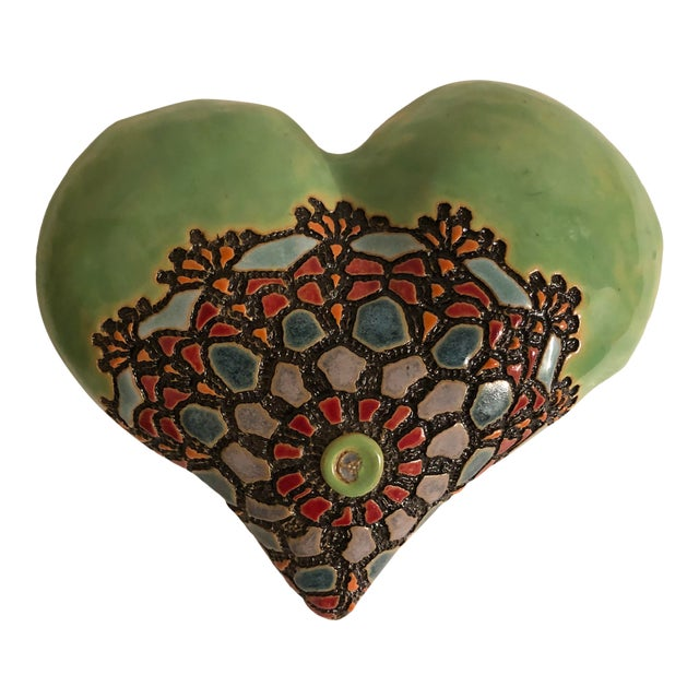 Ceramics Wall Plaque by Laurie Pollpeter Eskenazi For Sale