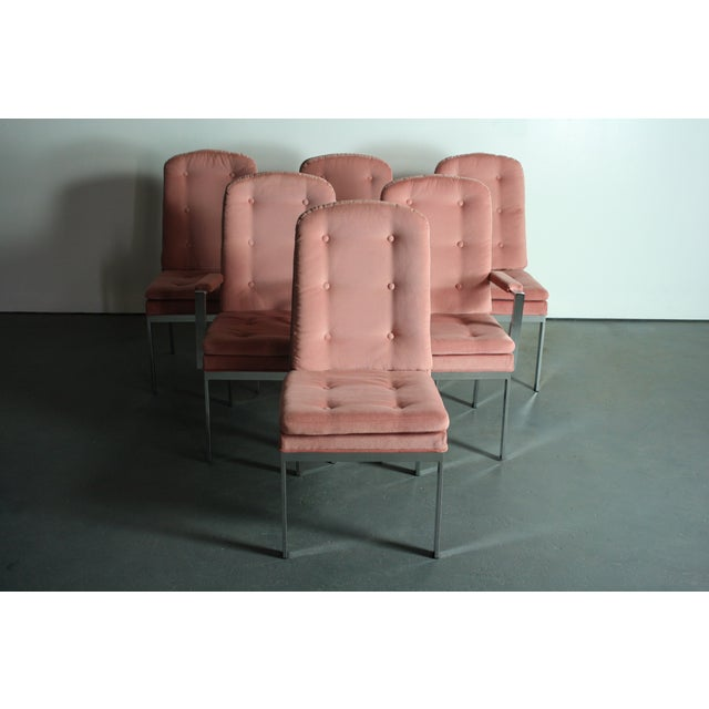 Milo Baughman for DIA Blush Dining Chairs - S/6 For Sale In Orlando - Image 6 of 12