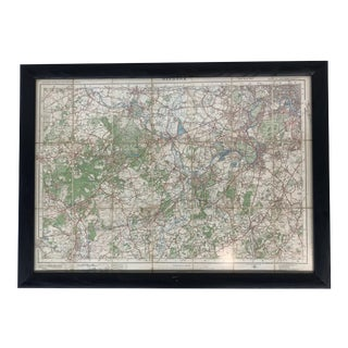 Framed Vintage Windsor, England Map