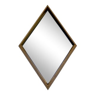 Mid Century Modern Hollywood Regency Gold Gilt Wall Mirror La Barge Diamond 60s For Sale