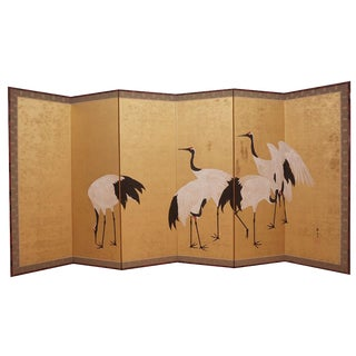 Japanese crane screen For Sale