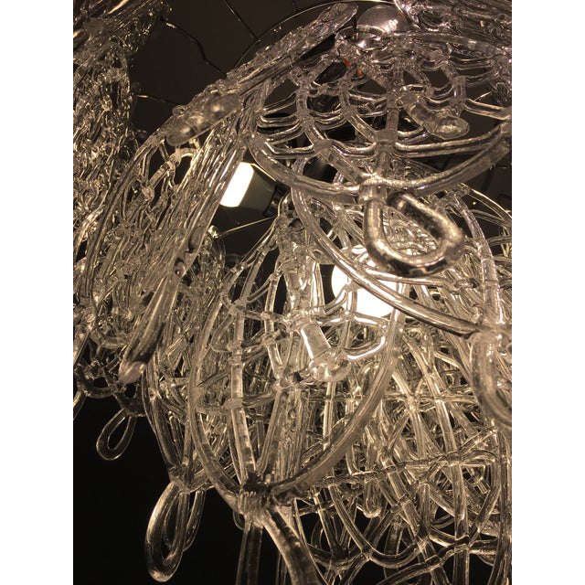 Glass Contemporary Murano Glass Triedo Sputnik Chandelier For Sale - Image 7 of 8