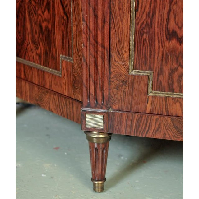 Brown Custom-Made Maison Jansen Rosewood Breakfront For Sale - Image 8 of 10