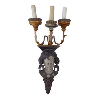 19th Century Italian Pair of Architectural Sconces For Sale